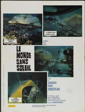Jacques-Yves Cousteau's World Without Sun - 11 x 17 Movie Poster - French Style A