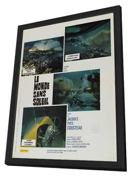 Jacques-Yves Cousteau's World Without Sun - 11 x 17 Movie Poster - French Style A - in Deluxe Wood Frame