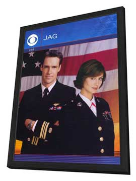 JAG - 11 x 17 TV Poster - Style A - in Deluxe Wood Frame