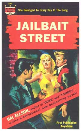 Jailbait Street - 11 x 17 Retro Book Cover Poster