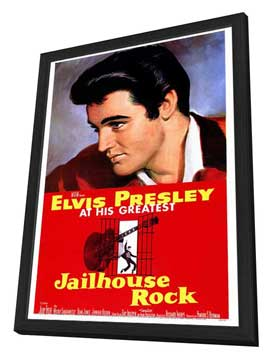 Jailhouse Rock - 27 x 40 Movie Poster - Style A - in Deluxe Wood Frame