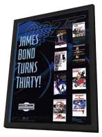 James Bond 40th Anniversary Series - 11 x 17 Movie Poster - Style A - in Deluxe Wood Frame