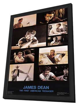 James Dean - 11 x 17 Movie Poster - Style F - in Deluxe Wood Frame