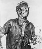 James Dean - James Dean Posed in Black Short Sleeve Collar Shirt with Head Raised Up and Mouth Open while Stained with Blood All Over the Body