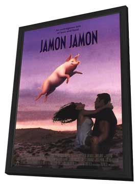 Jamon, Jamon - 11 x 17 Movie Poster - Style B - in Deluxe Wood Frame