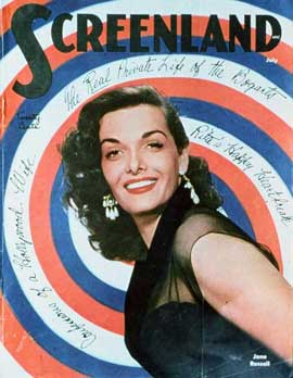 Jane Russell - 27 x 40 Movie Poster - Screenland Magazine Cover 1940's Style A