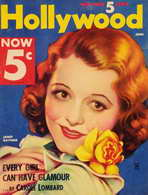 Janet Gaynor - 11 x 17 Hollywood Magazine Cover 1930's Style A