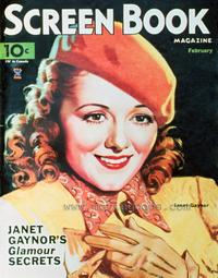 Janet Gaynor - 11 x 17 Screen Book Magazine Cover 1930's