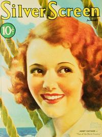 Janet Gaynor - 27 x 40 Movie Poster - Silver Screen Magazine Cover 1930's Style A