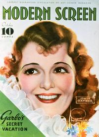 Janet Gaynor - 27 x 40 Movie Poster - Modern Screen Magazine Cover 1930's Style B