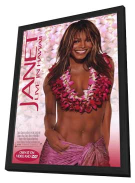 Janet Jackson: Live in Hawaii - 11 x 17 Music Poster - Style A - in Deluxe Wood Frame