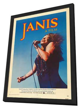 Janis - 27 x 40 Movie Poster - Style A - in Deluxe Wood Frame
