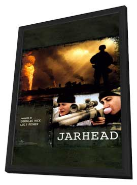 Jarhead - 11 x 17 Movie Poster - Style C - in Deluxe Wood Frame