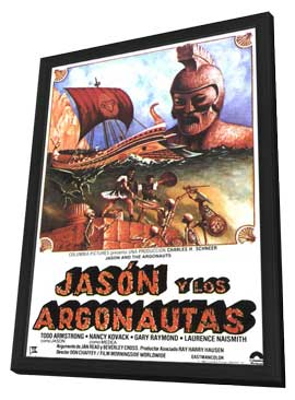 Jason and the Argonauts - 11 x 17 Movie Poster - Spanish Style A - in Deluxe Wood Frame