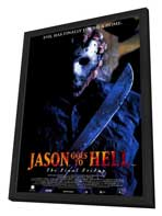 Jason Goes to Hell: The Final Friday - 27 x 40 Movie Poster - Style B - in Deluxe Wood Frame