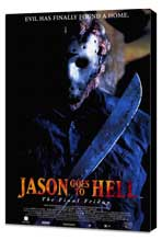 Jason Goes to Hell: The Final Friday - 27 x 40 Movie Poster - Style B - Museum Wrapped Canvas