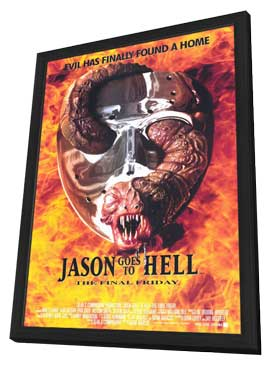 Jason Goes to Hell: The Final Friday - 11 x 17 Movie Poster - Style A - in Deluxe Wood Frame