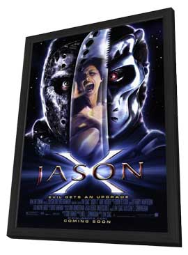 Jason X - 11 x 17 Movie Poster - Style A - in Deluxe Wood Frame