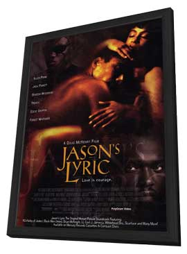 Jason's Lyric - 27 x 40 Movie Poster - Style B - in Deluxe Wood Frame