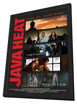 Java Heat - 11 x 17 Movie Poster - Style A - in Deluxe Wood Frame