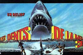 Jaws 3-D - 11 x 17 Movie Poster - French Style A