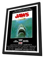 Jaws - 11 x 17 Movie Poster - Style A - in Deluxe Wood Frame