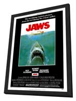 Jaws - 27 x 40 Movie Poster - Style A - in Deluxe Wood Frame