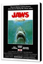 Jaws - 27 x 40 Movie Poster - Style A - Museum Wrapped Canvas