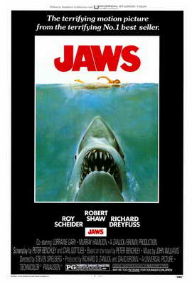 Jaws - 27 x 40 Movie Poster