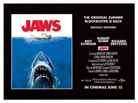 Jaws - DS British Quad 30 x 40 - Style A
