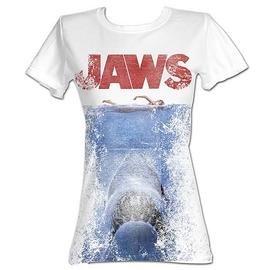 Jaws - Movie Poster White Juniors T-Shirt
