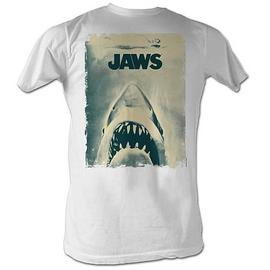 Jaws - Distressed Poster White T-Shirt