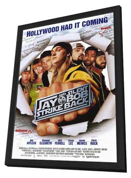 Jay and Silent Bob Strike Back - 27 x 40 Movie Poster - Style A - in Deluxe Wood Frame