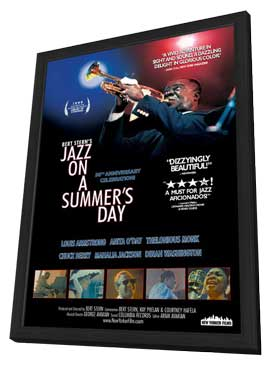 Jazz on a Summer's Day - 11 x 17 Movie Poster - Style A - in Deluxe Wood Frame