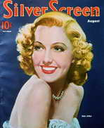 Jean Arthur - 11 x 17 Silver Screen Magazine Cover 1930's Style A
