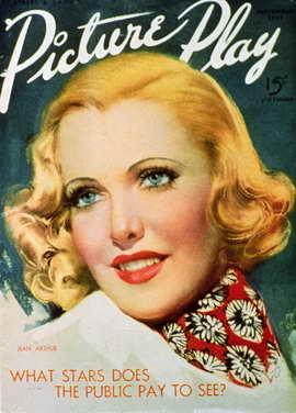 Jean Arthur - 11 x 17 Picture-Play Magazine Cover 1920's