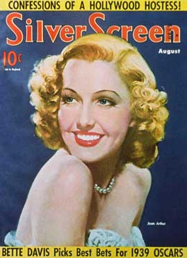 Jean Arthur - 27 x 40 Movie Poster - Silver Screen Magazine Cover 1930's Style A