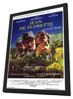 Jean de Florette - 11 x 17 Movie Poster - Italian Style A - in Deluxe Wood Frame