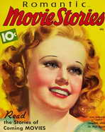 Jean Harlow - 11 x 17 Romantic Movie Stories Magazine Cover 1930's Style A