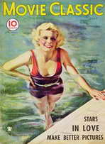 Jean Harlow - 11 x 17 Movie Classic Magazine Cover 1930's