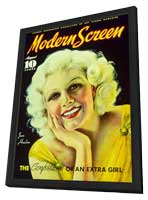 Jean Harlow - 11 x 17 Modern Screen Magazine Cover 1930's Style B - in Deluxe Wood Frame