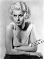 Jean Harlow - Cheers Talking in Brown and Black Coat
