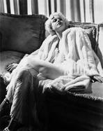 Jean Harlow - Jean Harlow Posed in White Pelted Robe