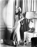 Jean Harlow - Jean Harlow Posed in White Dress and Black Muffler