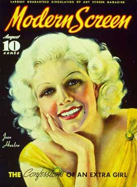 Jean Harlow - 27 x 40 Movie Poster - Modern Screen Magazine Cover 1930's Style B