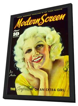 Jean Harlow - 27 x 40 Movie Poster - Modern Screen Magazine Cover 1930's Style B - in Deluxe Wood Frame