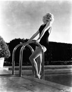 Jean Harlow - Jean Harlow Posed in Black Swimsuit