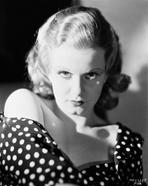 Jean Harlow - Jean Harlow Portrait in Black Polka Dot Shoulder Dress