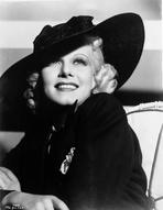 Jean Harlow - Jean Harlow Portrait in Black Hat and Dress