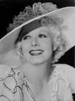 Jean Harlow - Jean Harlow Portrait in White Hat and Dress